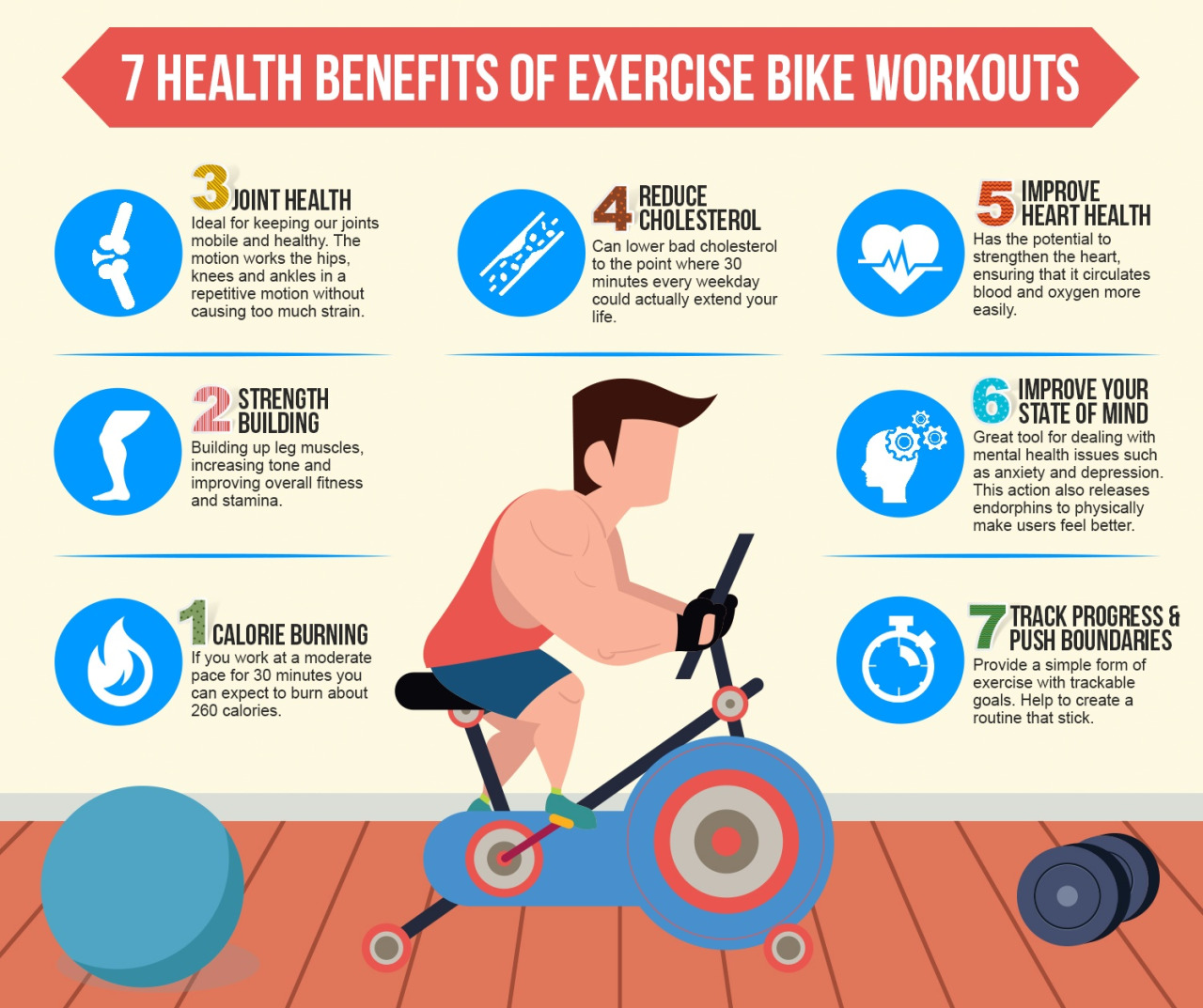 7 Health Benefits of Exercise Bike Workout