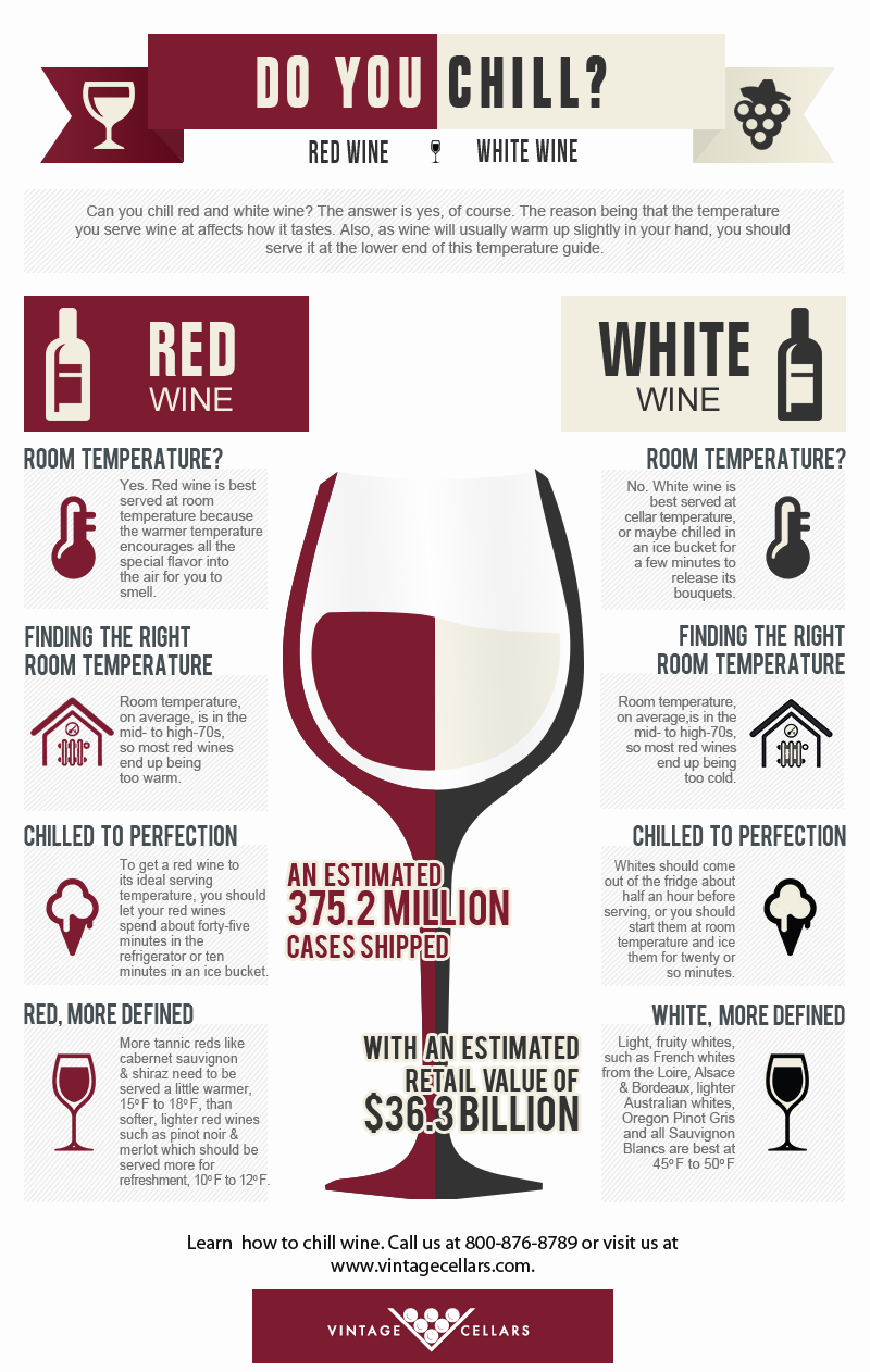 Do You Chill Red Amp White Wine Infographic Facts