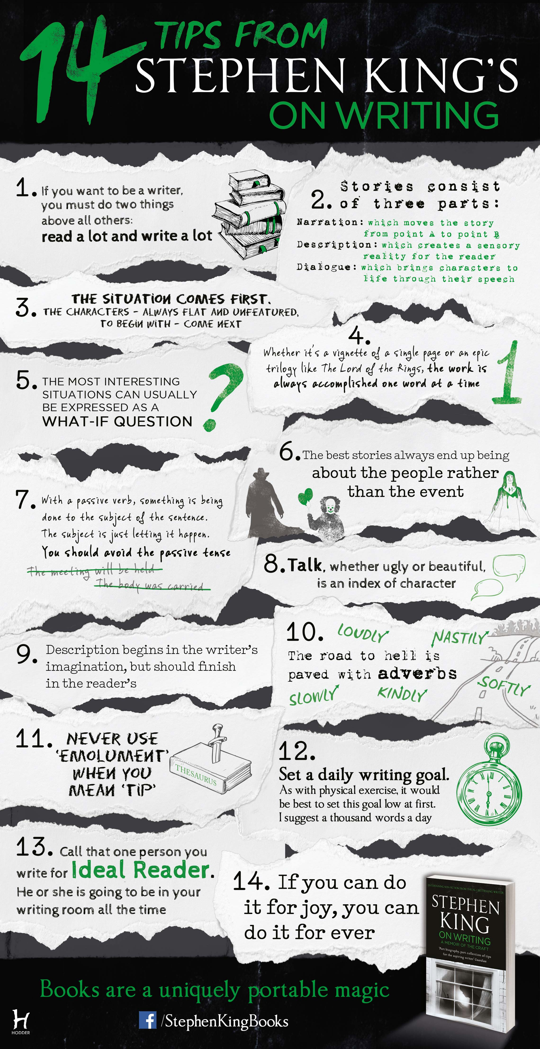 14 Tips From Stephen King's On Writing