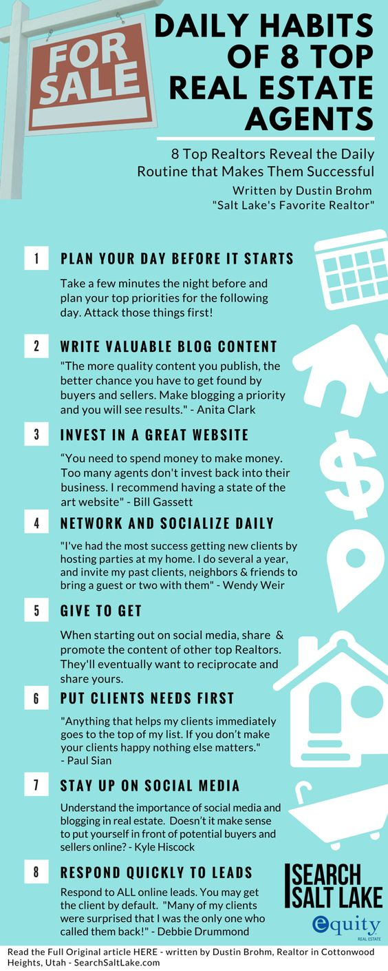 Daily Habits of 8 Top Real Estate Agent