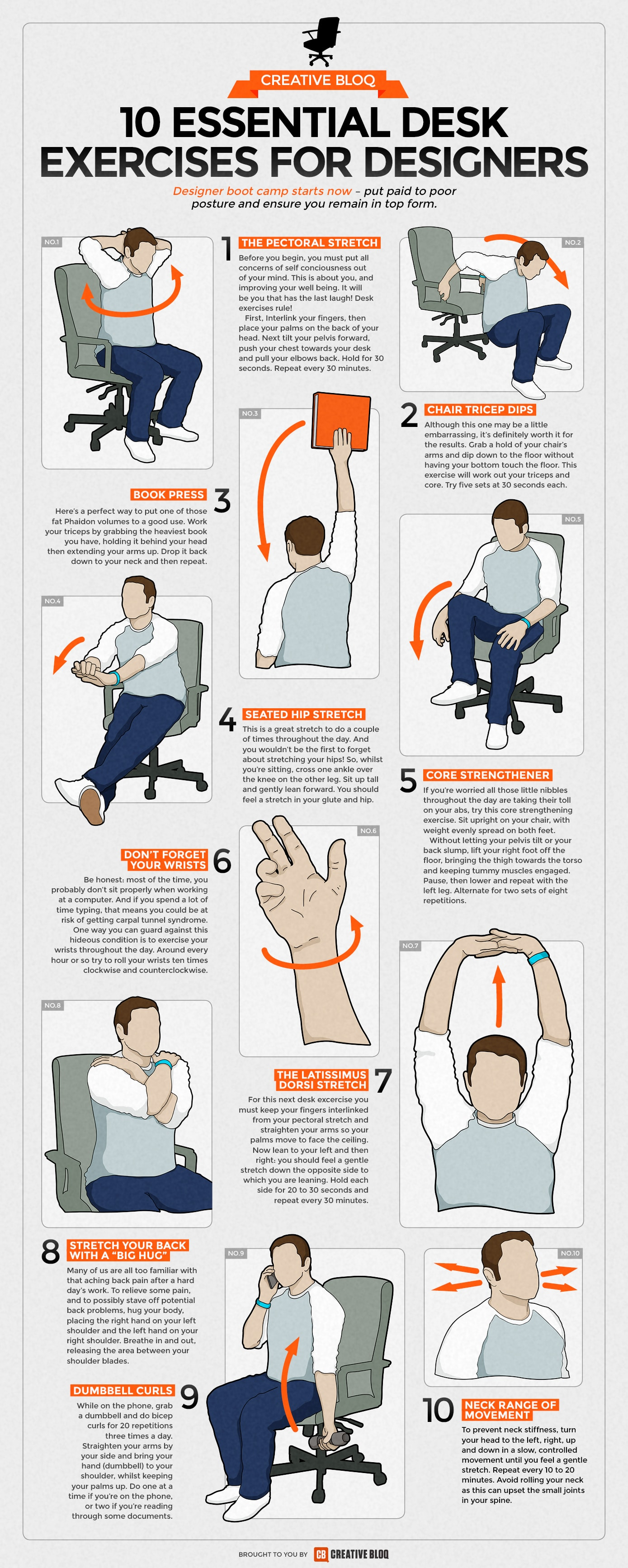 10 Essential Desk Exercises For Designers