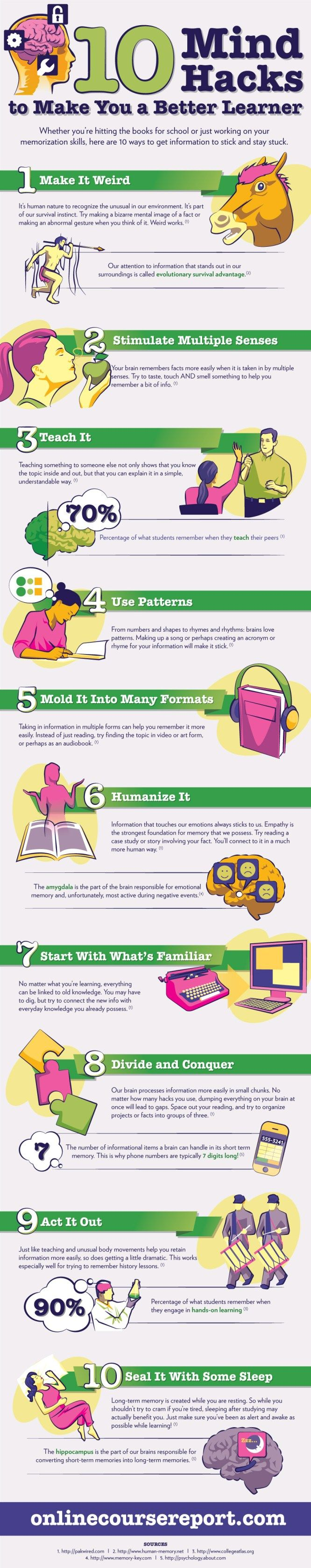 10 Mind Hacks to make you a Better Learner